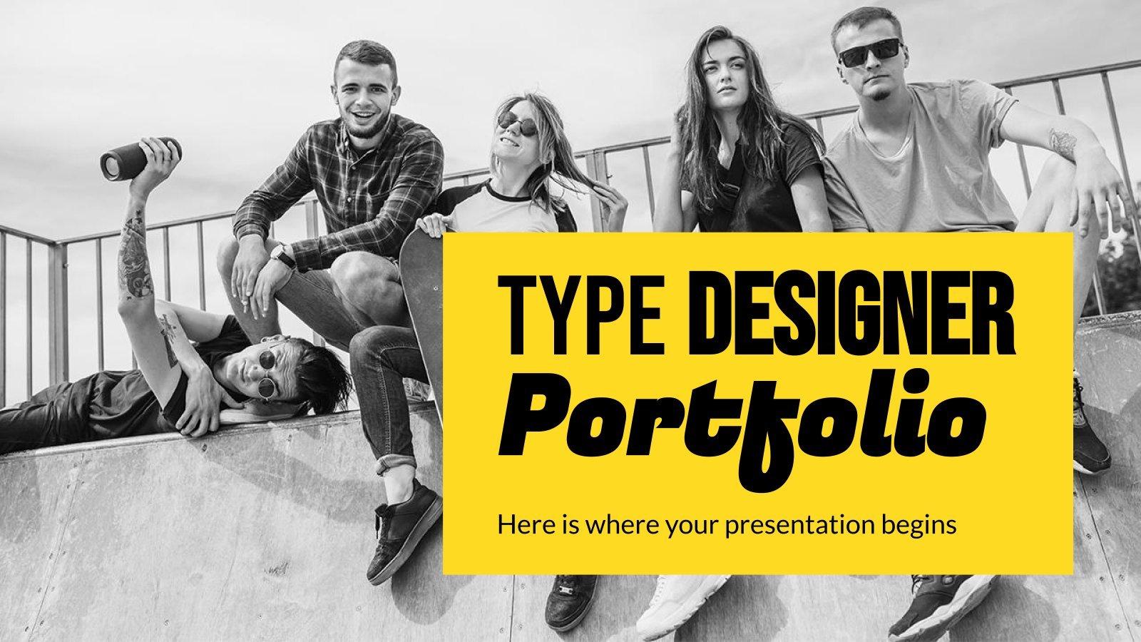 Portfolio des designers de caractères : Modèles de présentation