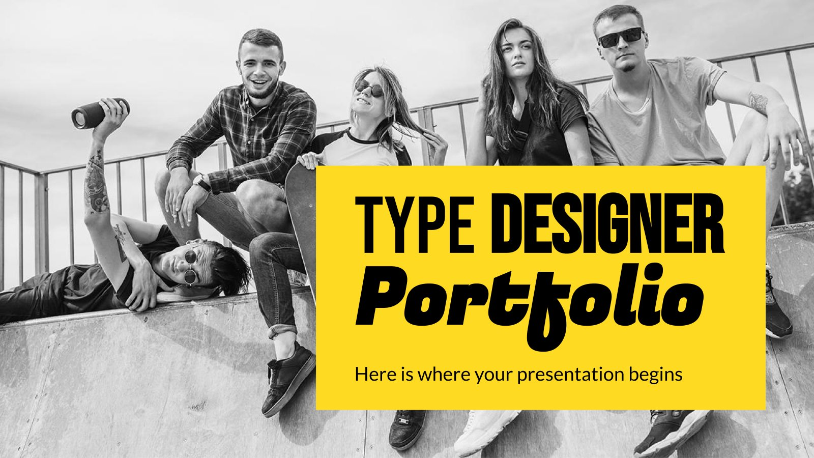 Type Designer Portfolio presentation template
