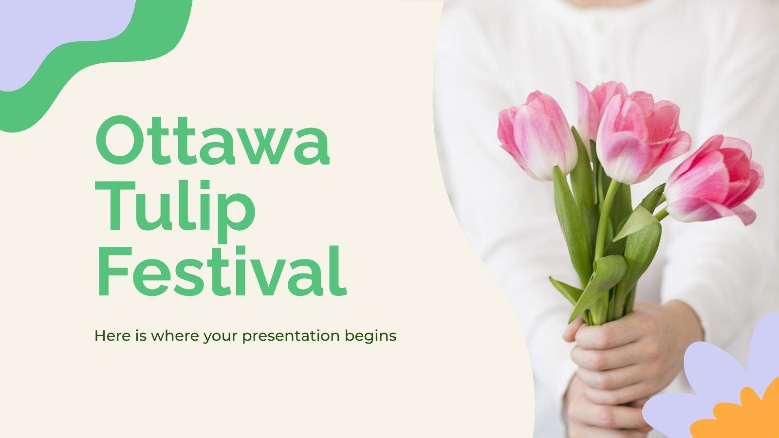 Plantilla de presentación Festival de tulipanes de Ottawa