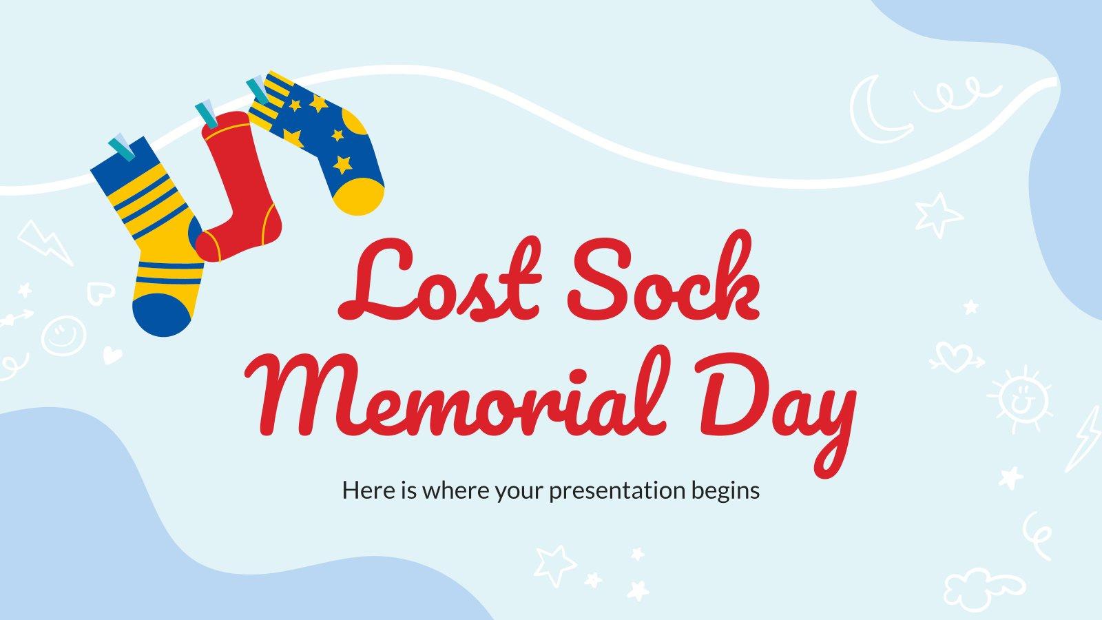 Lost Sock Memorial Day presentation template