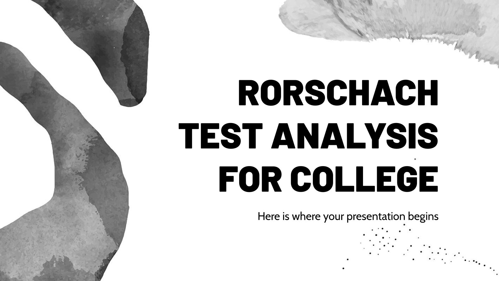 Rorschach Test Analysis for College presentation template