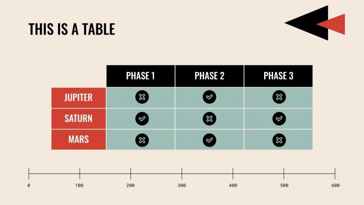 Modèle de pitch deck minimaliste et rétro : Modèles de présentation