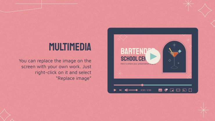 Bartender School Center presentation template