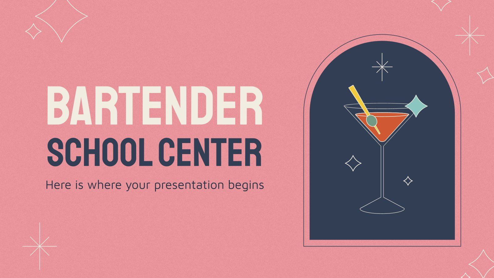 Bartender School Center presentation template
