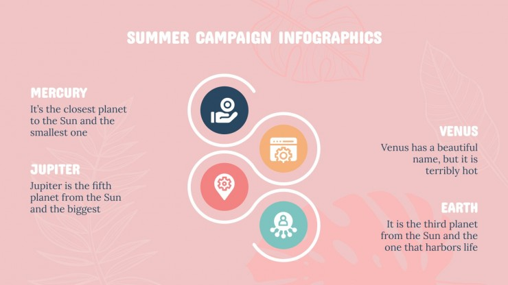 Summer Campaign Infographics presentation template