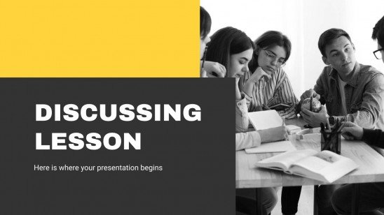 Discussing Lesson presentation template