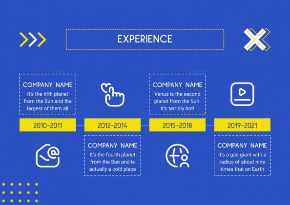 Modelo de apresentação CV do influencer nas mídias sociais