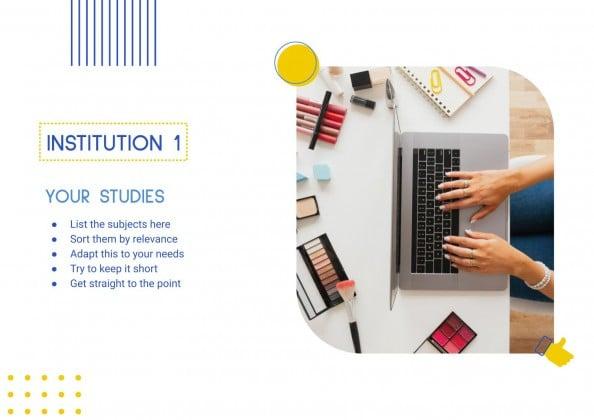 Plantilla de presentación CV para influencer en redes sociales