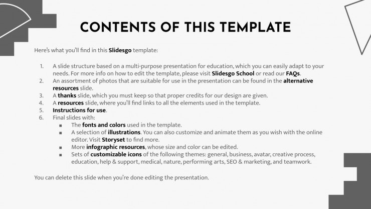 English Language Day presentation template