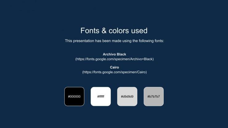 Dark Chrome Design Thesis presentation template