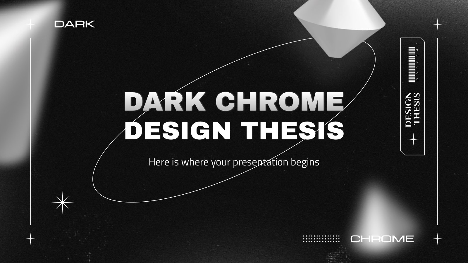 Dark Chrome Design Thesis presentation template