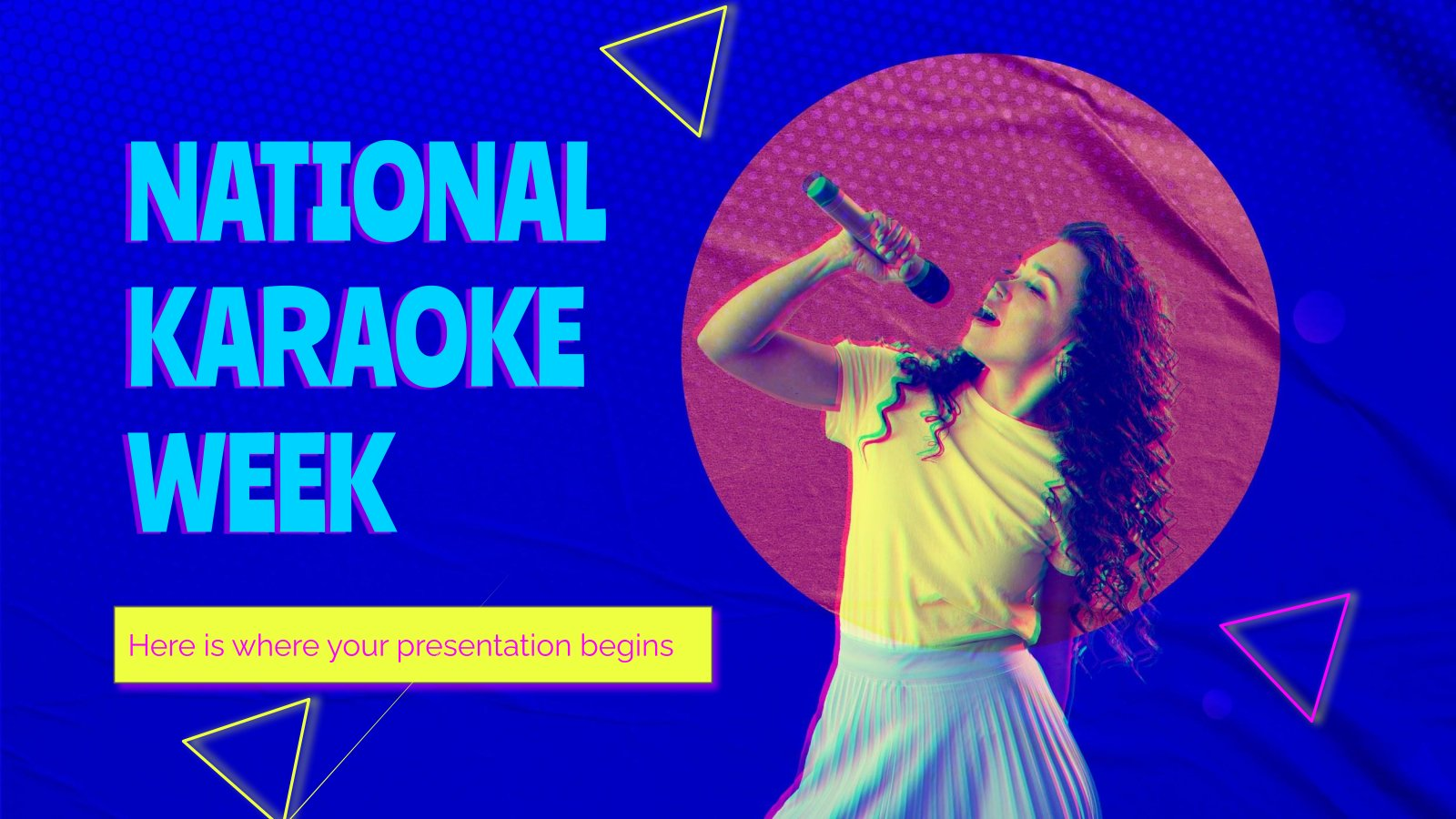 Semaine nationale du karaoké (USA) : Modèles de présentation