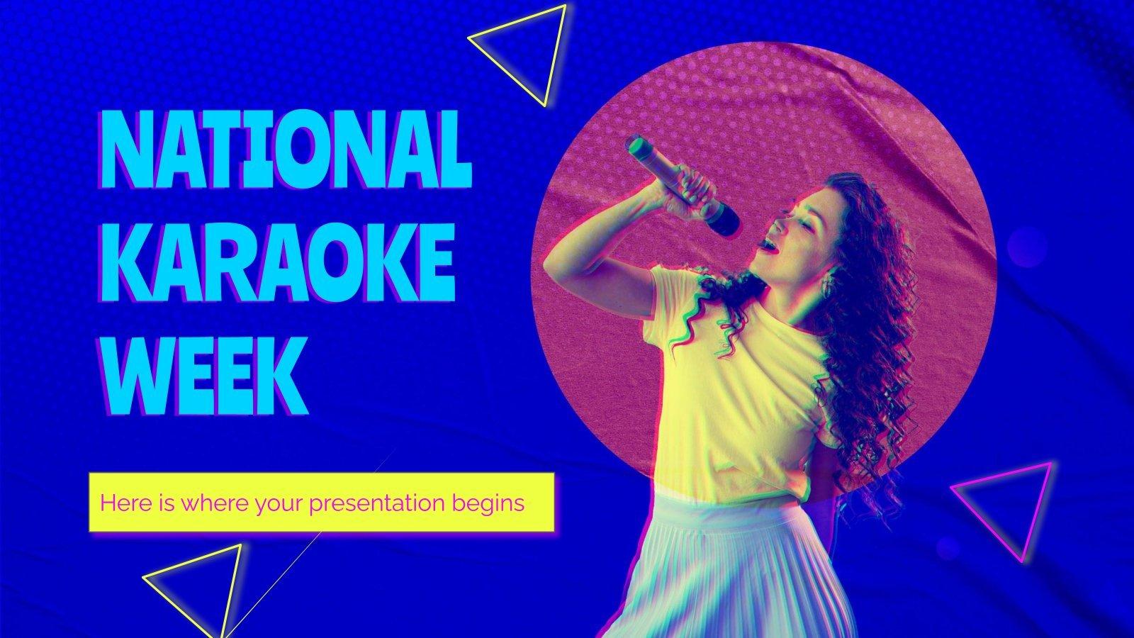 Modelo de apresentação Semana nacional do karaokê nos EUA