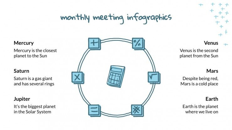 Monthly Meeting Infographics presentation template