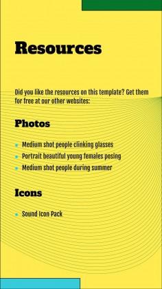 Des ondes sonores colorées pour le marketing : Modèles de présentation