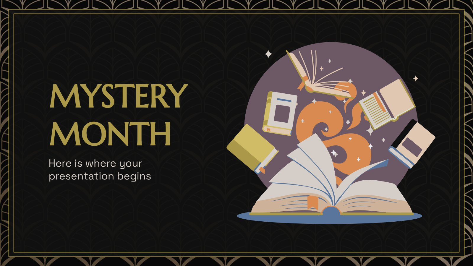 Mystery Month presentation template