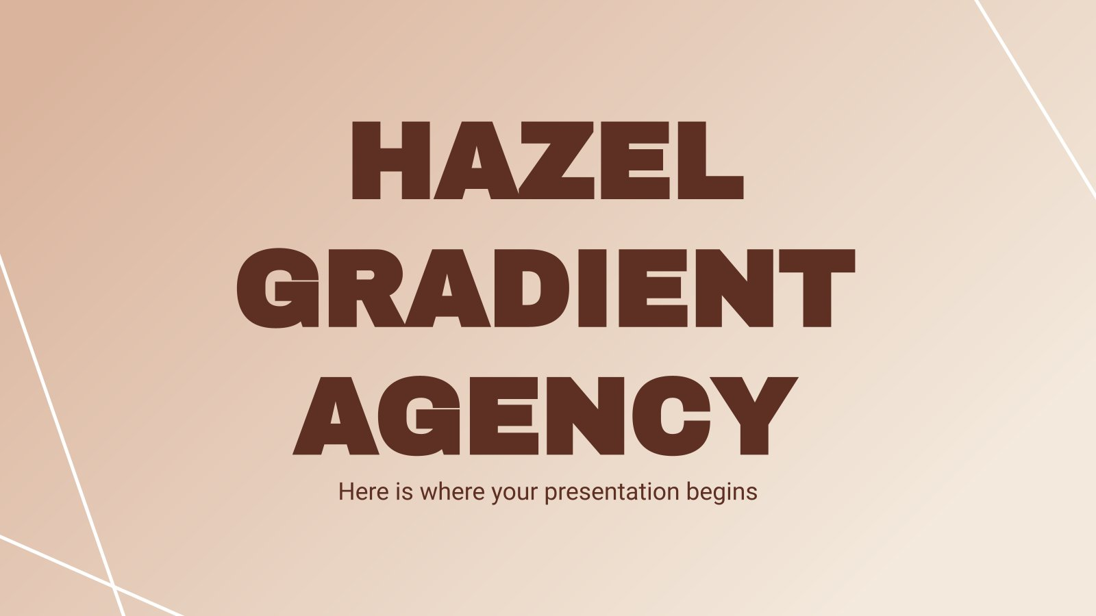 Hazel Gradients Agency presentation template