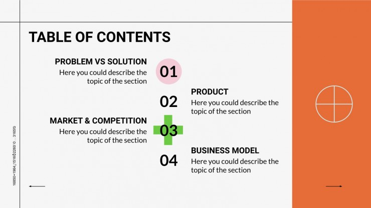 Modelo de apresentação Pitch deck laboratório de código aberto