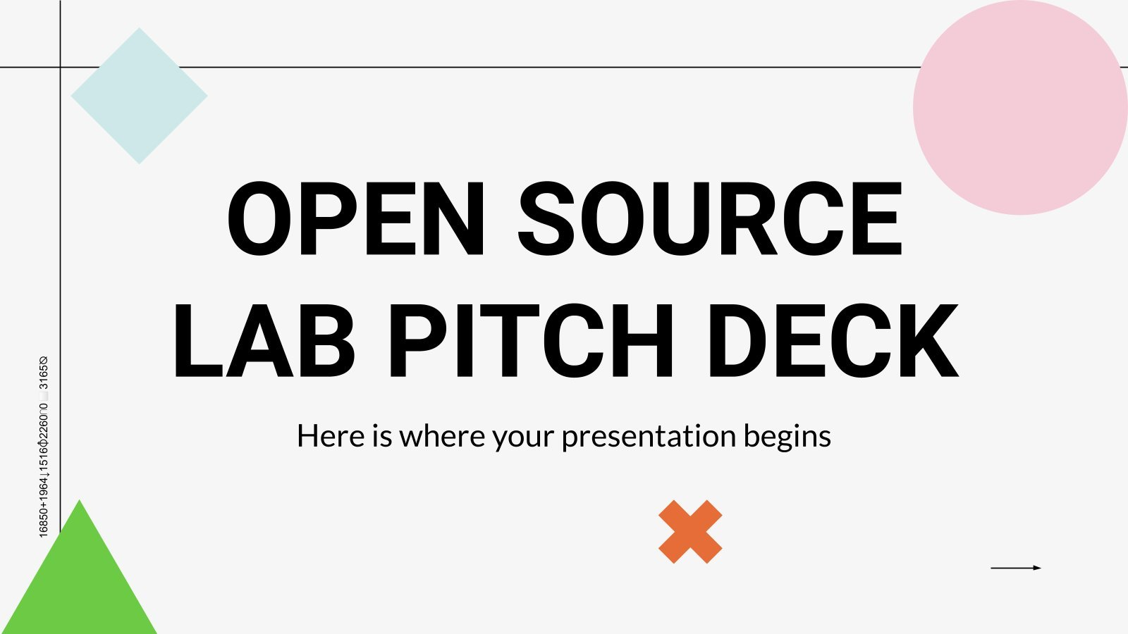 Open Source Lab Pitch Deck presentation template