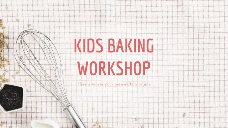 Plantilla de presentación Taller de cocina para niños
