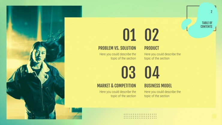 Music App Pitch Deck presentation template
