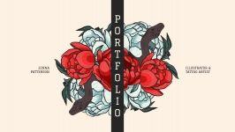 Plantilla de presentación Portafolio old school