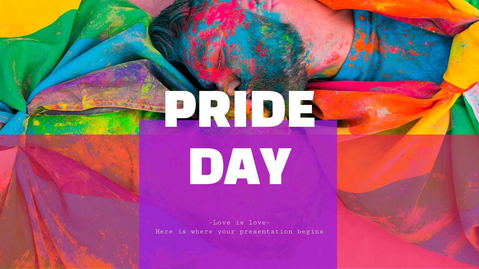 Modelo de apresentação Campanha de marketing LGBT