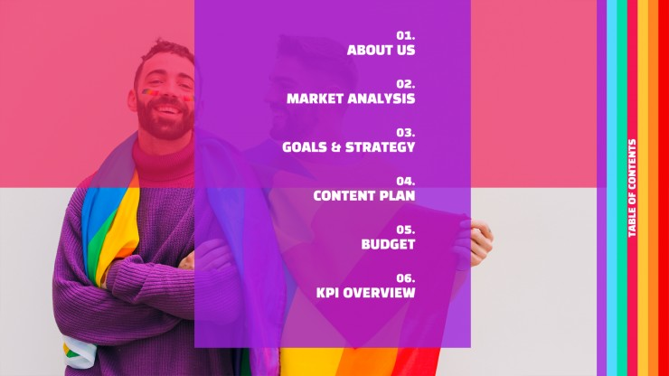 LGBT Marketing Campaign presentation template