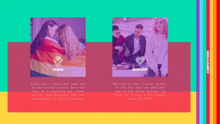 Plantilla de presentación Campaña de marketing LGBT