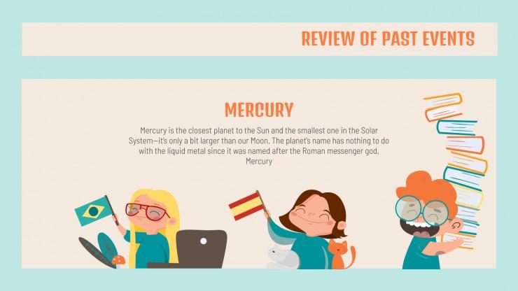 Language School Newsletter presentation template