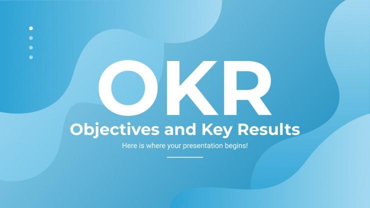 Plantilla de presentación Objetivos y resultados clave