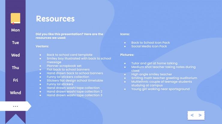 Modelo de apresentação Agenda colegial