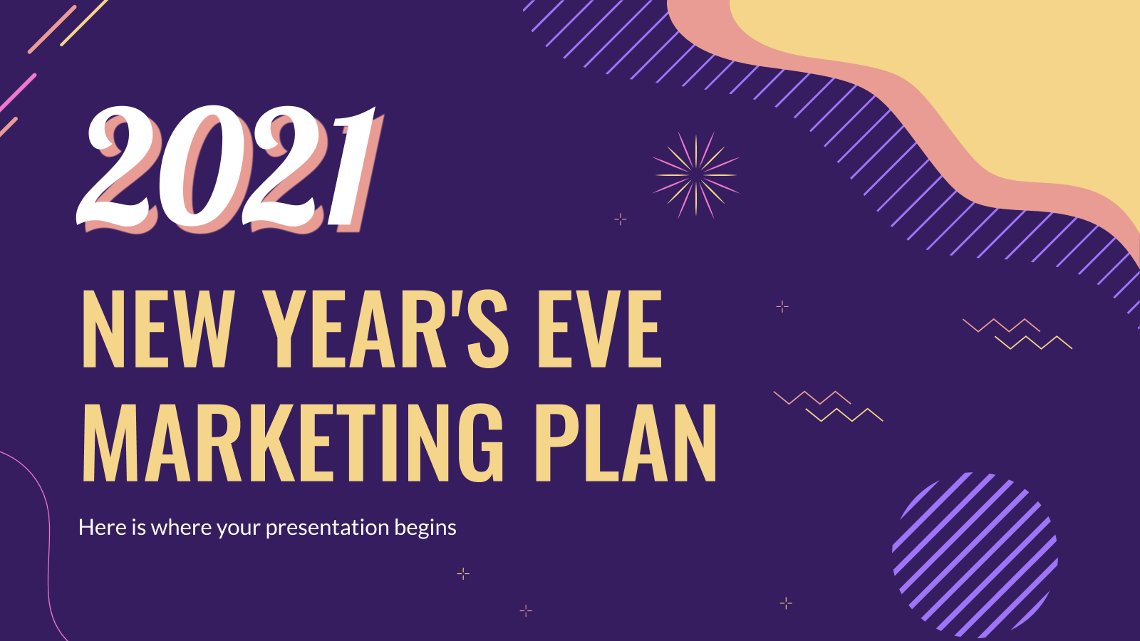 New Year's Eve Marketing Plan presentation template