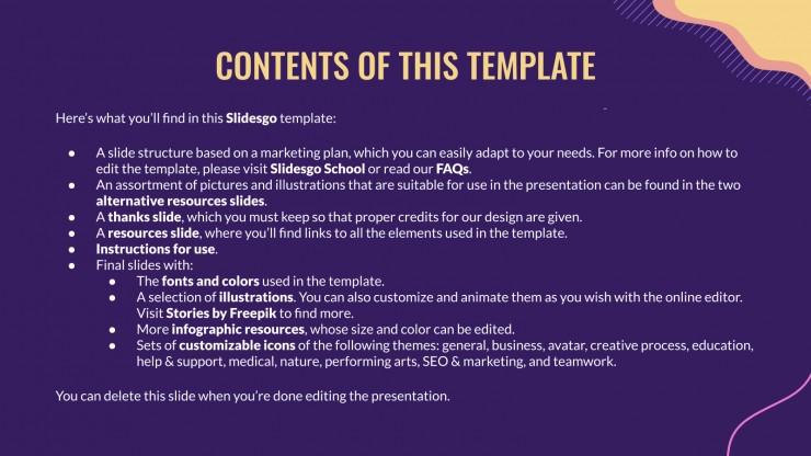Plantilla de presentación Plan de marketing para Nochevieja