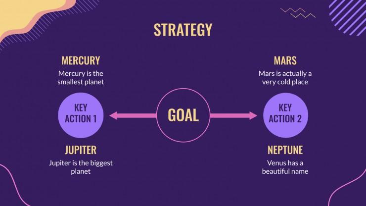 Modelo de apresentação Plano de marketing para réveillon