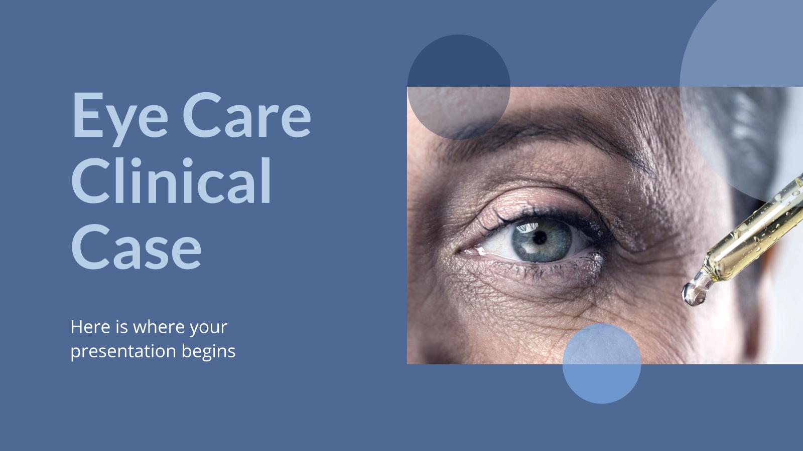 Cas clinique de soins oculaires : Modèles de présentation