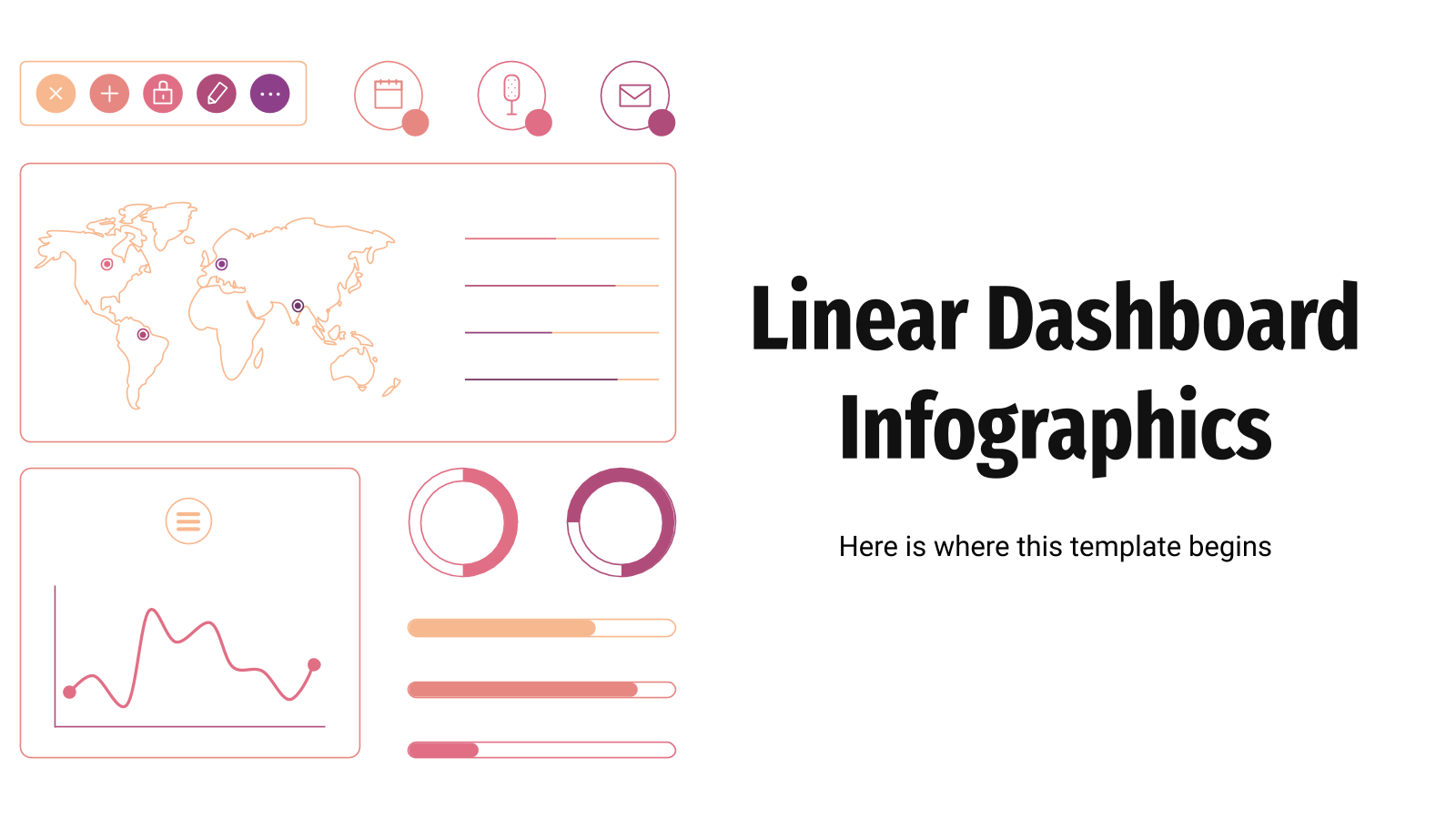 Linear Dashboard Infographics presentation template