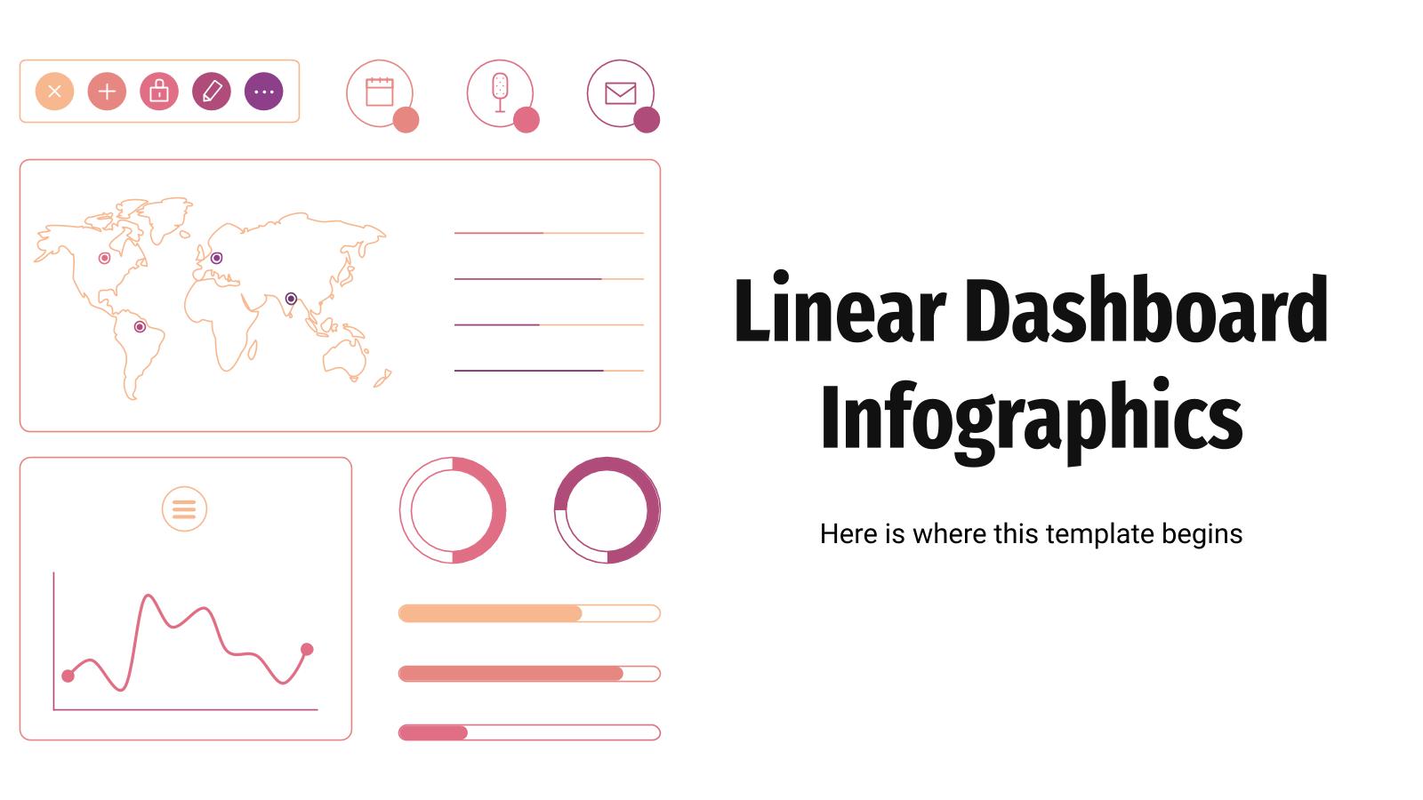 Infographies linéaires de tableau de bord : Modèles de présentation