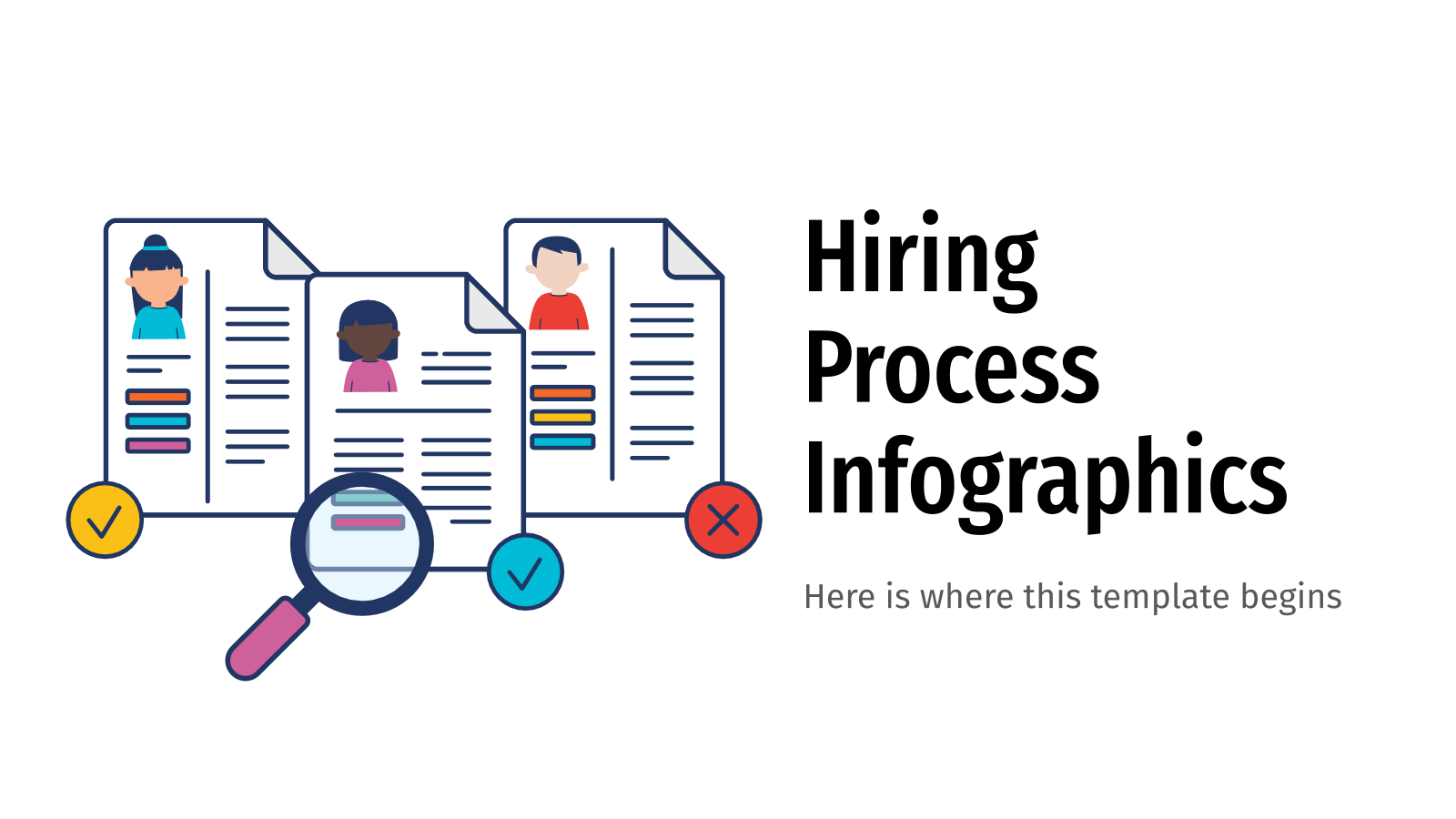 Hiring Process Infographics presentation template