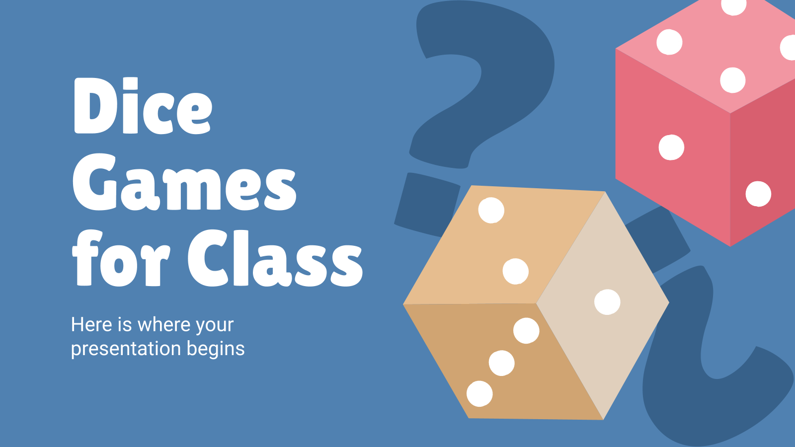 Dice Games for Class presentation template