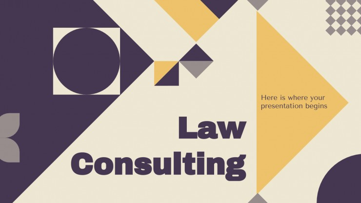 Law Consulting Sales Pitch presentation template
