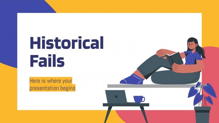 Historische Fails Präsentationsvorlage