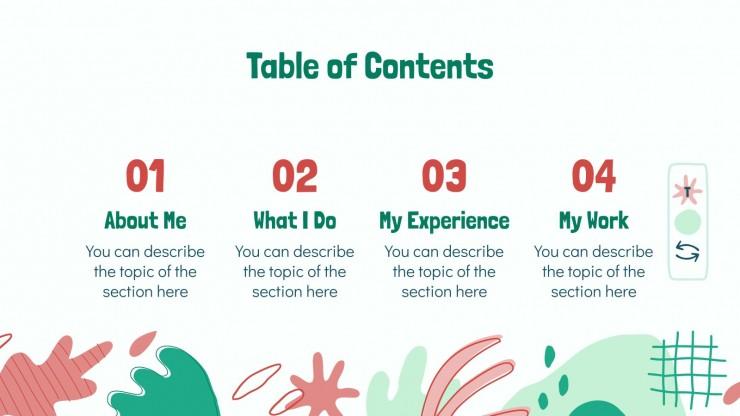 Modelo de apresentação Portfólio criativo