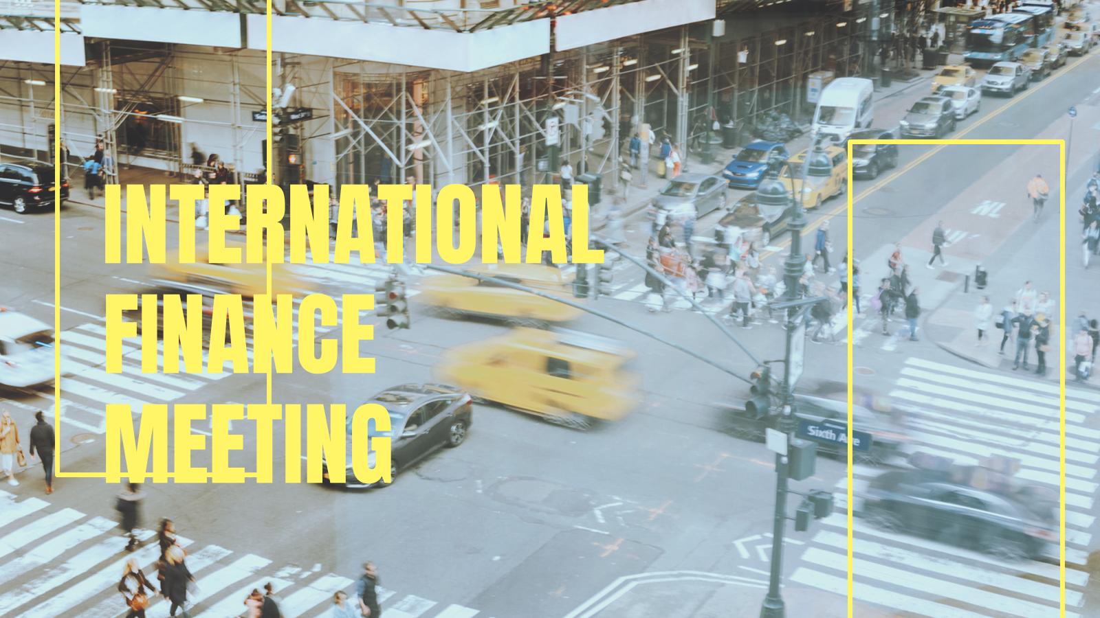 Plantilla de presentación Reunión de finanzas internacionales