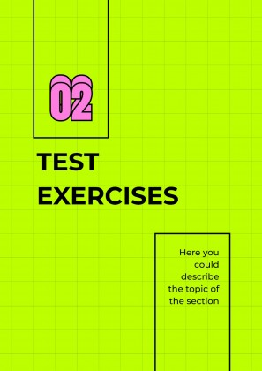 Final Tests' Exercises for Highschool presentation template
