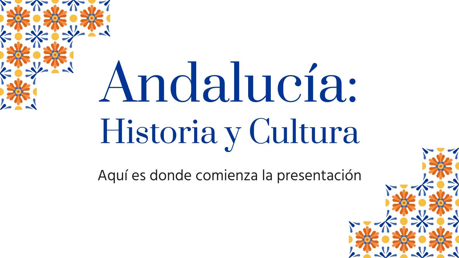 Modelo de apresentação Andalucía: Historia y Cultura