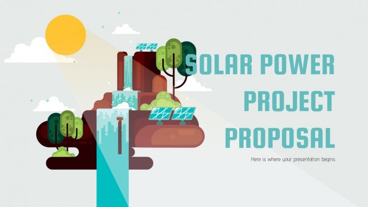 Solar Power Project Proposal presentation template