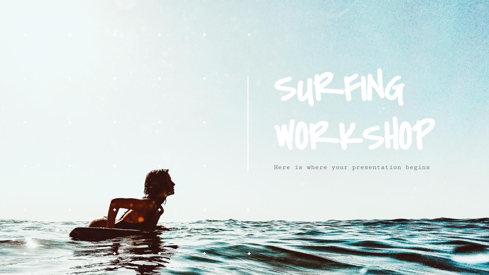 Modelo de apresentação Oficina de surfe