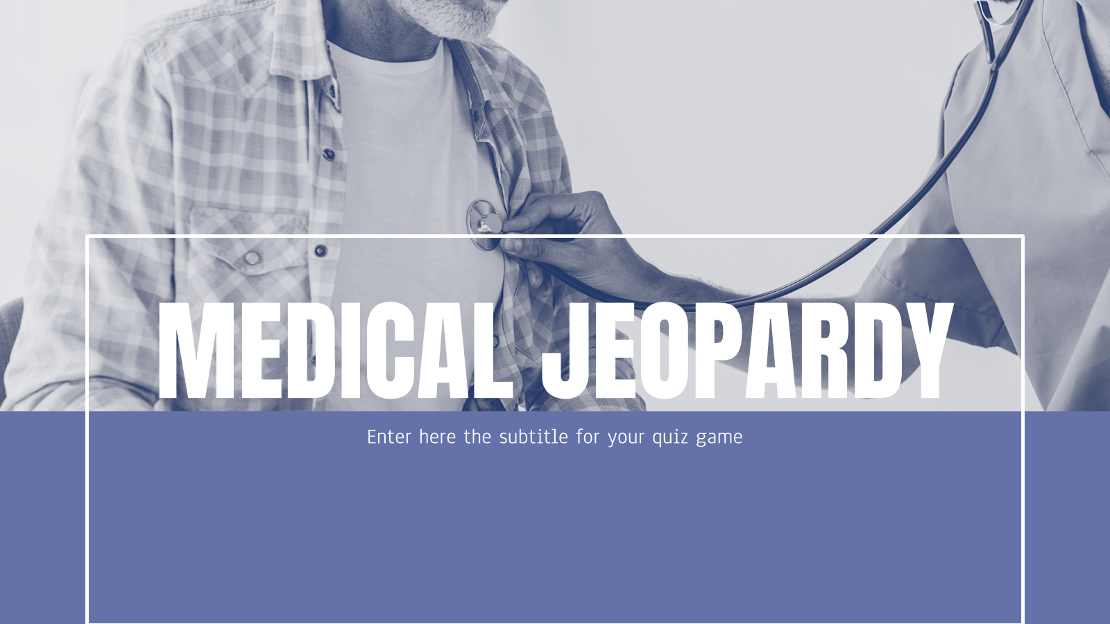 Medical Jeopardy presentation template