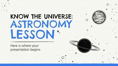 Know The Universe: Astronomy Lesson presentation template